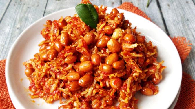 Resep Teri Kacang Balado