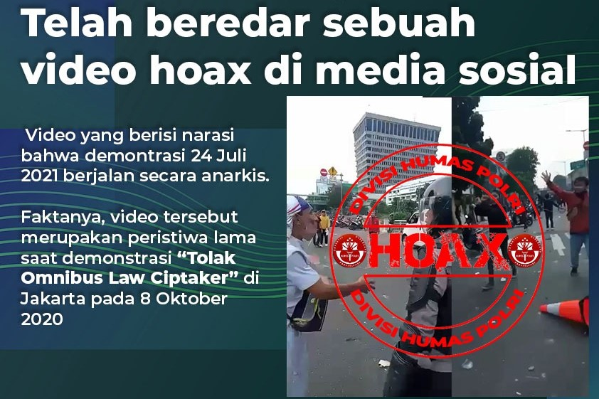 Video Rusuh Demo Hoaks